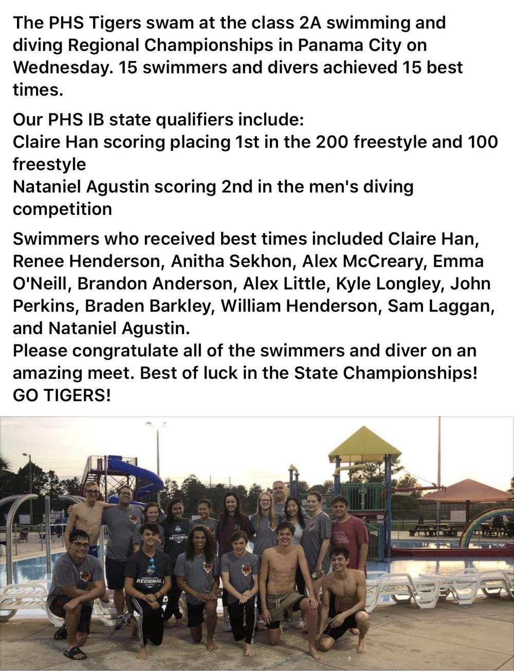 Swim team to state